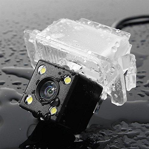 Dynavsal HD CCD Caméra de Recul Voiture en Couleur Kit Caméra Vue arrière de Voiture Imperméable IP67 avec Large Vision Nocturne pour Ford 2 Carriage/Fiesta/S-Max/Kuga/Focus Facelift C307