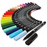 Koi – Marcadores de pincel flexible, funda de plástico con 48 unidades
