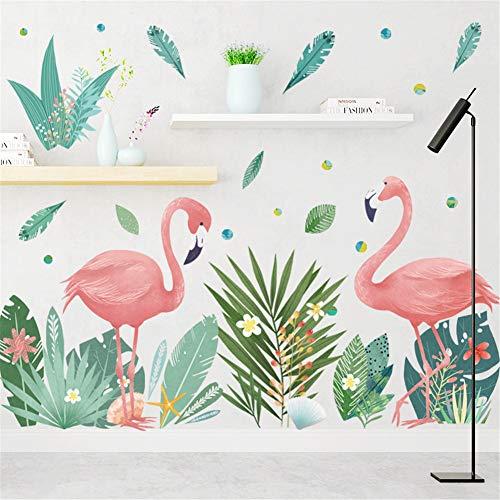 LucaSng DIY Wandaufkleber, Flamingo Wandsticker Wandtattoo Groß Pink Wanddeko für Wohnzimmer TV Hintergrund Kinderzimmer (Stil B)