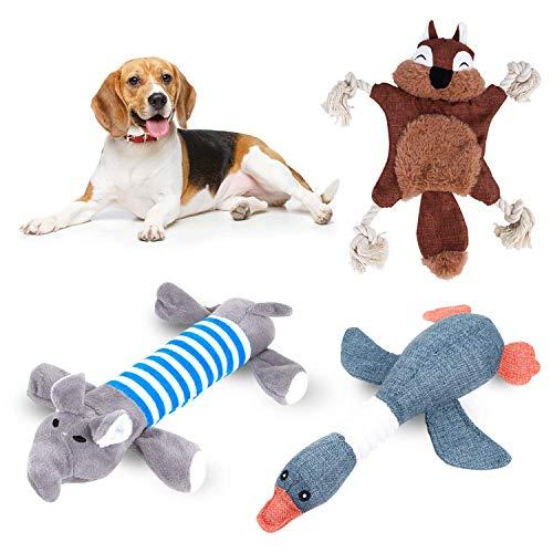 AWIIK - Peluches de Juguete para Perros Cachorros, pequeños