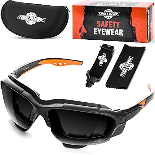 """Gafas protectoras de diseño """"spoggles"""" de primera calidad ToolFreak   La combinación perfecta de gafas de seguridad y gafas de diseño (Spoggle - fumar)"""