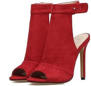 SUNNY Store Womens Open Toe Bandage High Heels Open Toe Booties Summer Sandals
