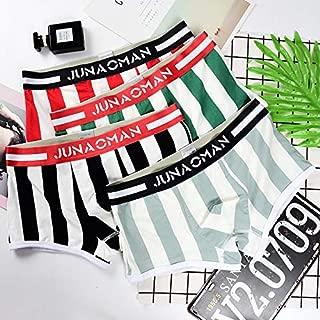 Laxuri MU550 Men's Underwear Boxer Shorts Youth Cotton Stripe U Convex Breathable
