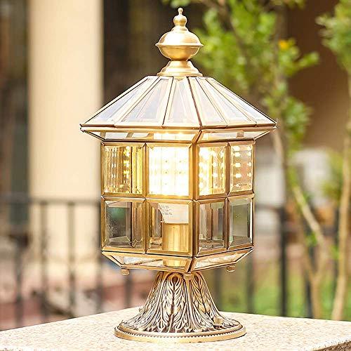NZDY Columna de Vidrio Victoriana Europea Linterna de Luz Lámparas de Poste de Pilar Clásico Al Aire Libre Tradicional E27 Re Patio Pedestal Accesorio de Lámpara Paisaje Calle Pilar Accesorio de Ilum
