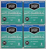 Berkley Jensen Anti-Diarrheal Medicine Loperamide Hydrochloride Tablets 2 mg - 4 Pack of 24 CAPLETS Each
