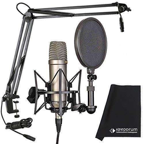 Rode NT1-A Mikrofonset + K&M 23850 Gelenkarm-Stativ + keepdrum Mikrofasertuch