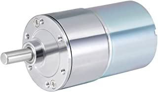 uxcell 24V DC 200 RPM Gear Motor High Torque Electric Reduction Gearbox Eccentric Output Shaft
