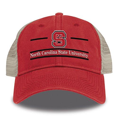 The Game Split Bar Design Trucker Mesh Hat, Red, Adjustable, North Carolina State Wolfpack