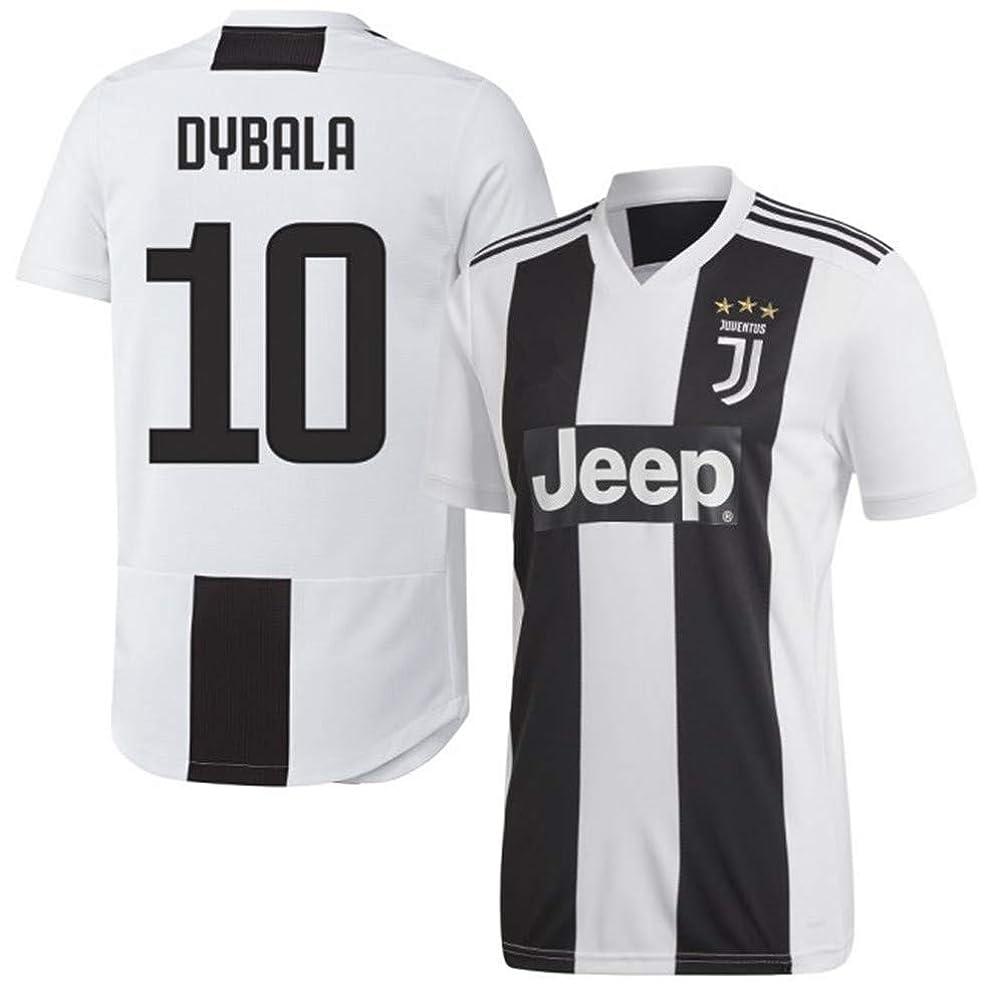 レビュー擬人化増幅するサッカー2019 ユベントス ユニフォーム 上下セット DYBALA 背番号10 大人用 (大人M,DYBALA,シロ) (M)