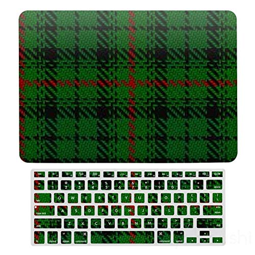 MacBook Air 13 Case A1466、A1369, Hard Shell & Keyboard Case Cover For Apple Mac Air 13, Scottish Clan Urquhart Tartan Laptop Protective Shell Set