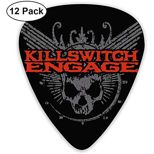 Fashion Killswitch Engage Plektren (12er Pack) für E-Gitarre, Akustikgitarre, Mandoline