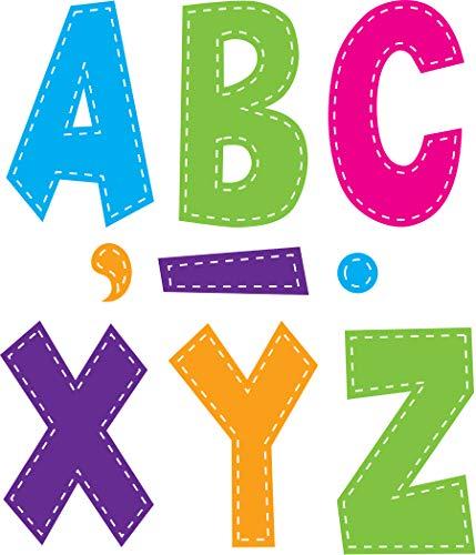 Teacher Created Resources Multi Bright Stitch 7' Fun Font Letters