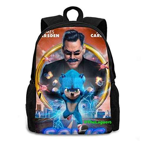 Sonic Backpack Cartoon Bag The Hedgehog School Bag for Teenager Boys Girls Students Sonic-G One Size