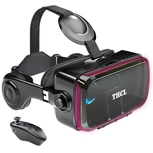 VRゴーグル vrゴーグルスマホ用 VR VRヘッドセット 通話に応答する機能付き アンチブルーレンズ 瞳孔 焦点距離調節 vrゴーグル dmm 1080PHD画質 3D ゲーム映画動画 4.7~6.2インチの iPhone Android などのスマホ対応 Bluetoothリモコン 120°視野角