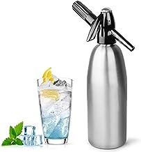 HXZB Argent 1L Aluminium Soda Siphon Maker Machine - Faire De l'eau Gazeuse pour Jus De Boissons Cocktail, Utiliser du CO2...
