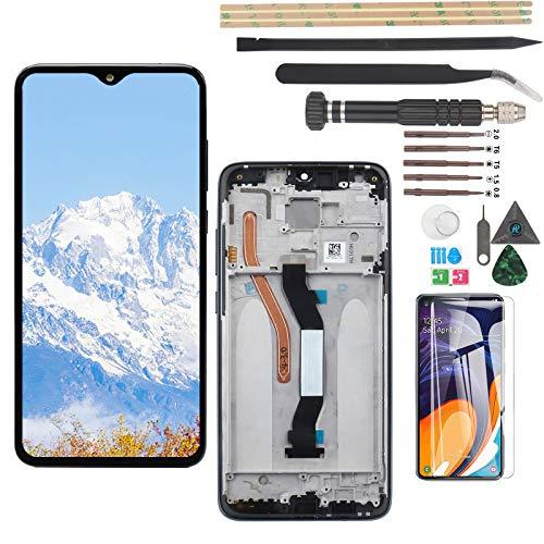 YWL-OU Pantalla para Xiaomi Redmi Note 8 Pro LCD Display Touch Screen Digitalizador de Pantalla táctil + Herramientas (Negro + Marco)
