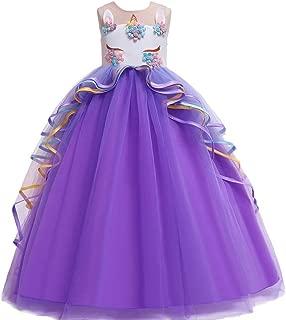 Best Gift Kids Dresses For Girls Unicorn Party Princess Dress Child Carnival Costume Flower Girls Wedding Dress Teenage fantasia infantile 4-14 years