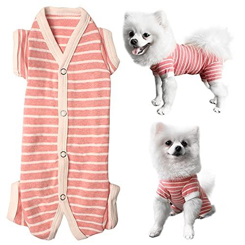 Kickred Shirt für Hunde, Hundeshirt Hunde Schlafanzug Hundepyjama Haustierbekleidung Hund Jumpsuit Weich Und Atmungsaktiv Für Kleine Mittel Große Hunde Mädchen