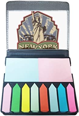 Graffiti Street New York Landmark Pattern Self Stick Note Color Page Marker Box