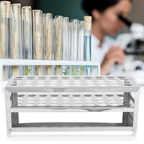 Roestvrij stalen geperforeerde plaat reageerbuis rek 40 gaten groot reageerbuishouder laboratorium experiment bevestiging accessoires 15,5 x 40 mm.