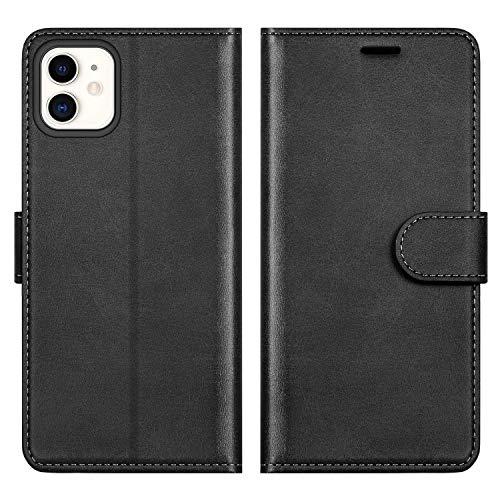 ykooe Funda para iPhone 11, Protector PU Cuero con Tapa Carcasa para iPhone 11 (Negro)