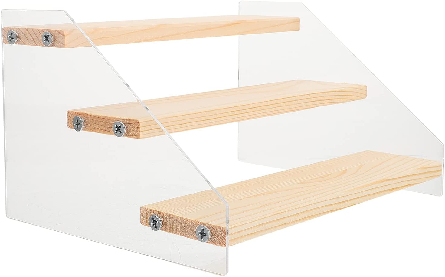 Max 66% OFF Luxshiny Clear Acrylic Baltimore Mall Wood Display Cupcake Stand Holder Dessert