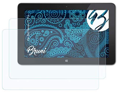Bruni Schutzfolie kompatibel mit Dell Venue 11 Pro Folie, glasklare Bildschirmschutzfolie (2X)