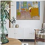 Carteles e Impresiones en Lienzo Arte de la Pared Pintura en Lienzo Dormitorio de Vincent en Arles C...
