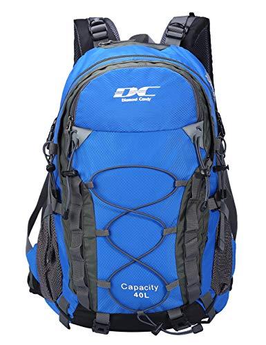 Diamond Candy Zaino da trekking, per sport all'aria aperta, da viaggio, 40 litri, per uomini e donne Blu navy Taglia unica