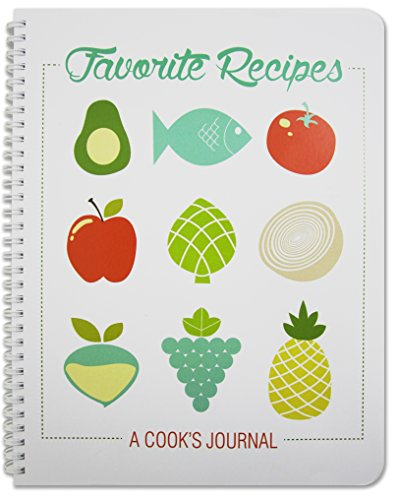 "BookFactory Recipe Book/Recipe Journal/Notebook/Blank Cook Book - 150 Total Recipe Pages (8 1/2"" X 11"") 75 Individual Recipes, Translux Cover, Wire-O Binding (JOU-150-7CW-A(Recipe Journal))"