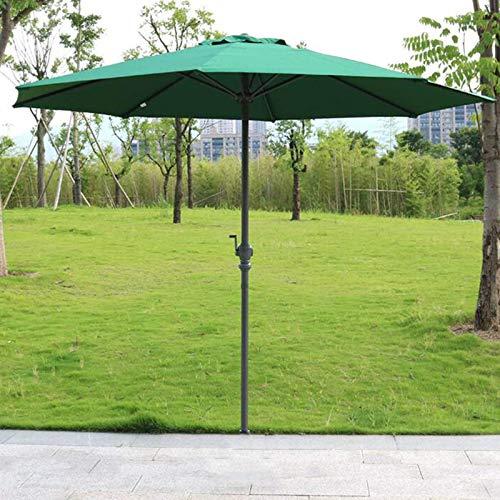 SHBV Sombrilla de poliéster Sombrillas de jardín Sombrilla con ventilación Anti UV Poste de Hierro Protección Solar Toldo para sombrilla para césped Patio Trasero Verano Camping Deck & oslash; 27