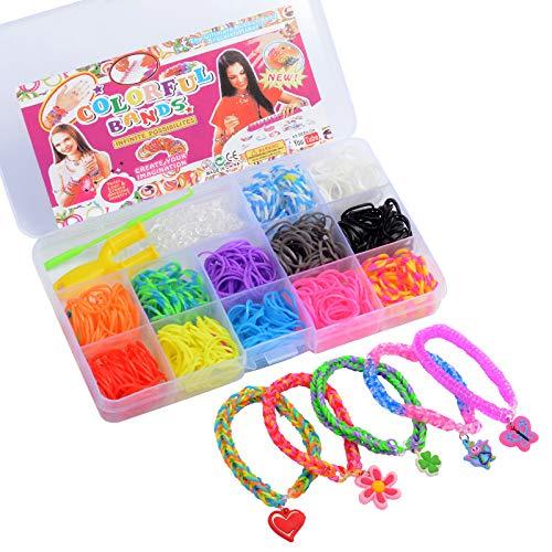 YK Elastici Braccialetti Bambini, Set di Elastici Fai da Te, con Ganci e Clip a S, per Bambini e Bambine