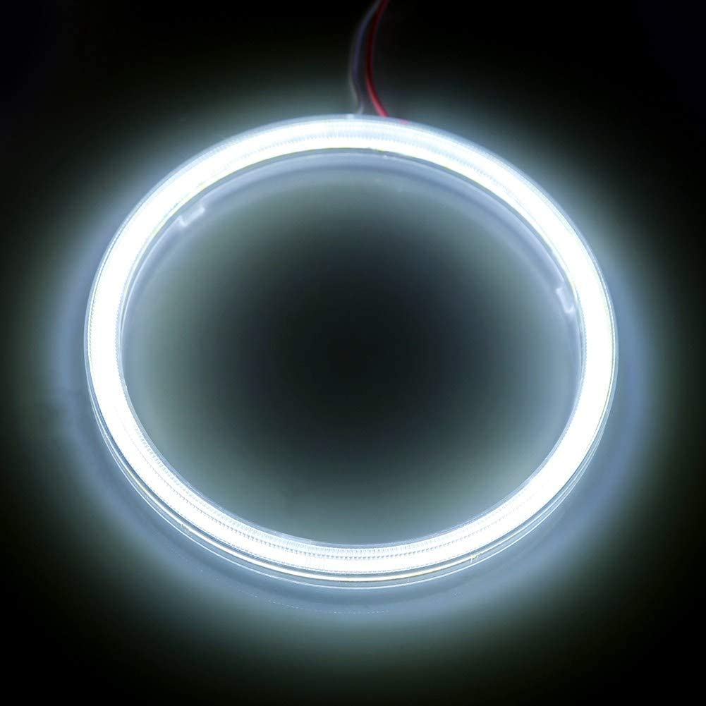 80mm 1 par Auto Halo Rings Angel Eye COB Chips Faros delanteros DRL LED para motocicleta Coche Angel Eyes Halo Ring L/ámpara Bombilla COB Angel Eyes Faros delanteros