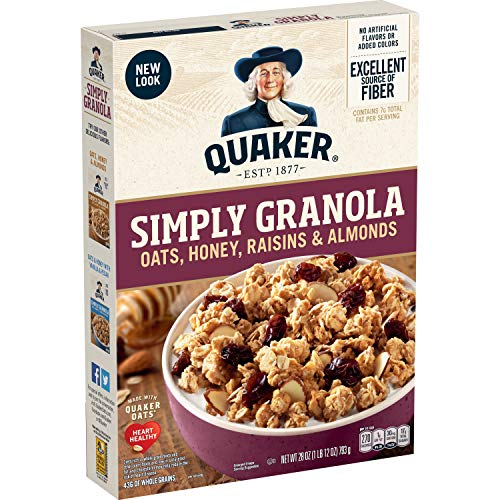 Quaker Simply Granola Oats Honey Raisins and Almonds 28 oz Boxes 2 Pack