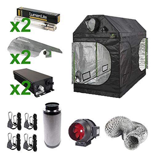Gardeners Corner 1.5X1.5X1.8M ROOF TENT KIT WITH 2 DIGITAL LIGHT KITS & EXTRACTION SYSTEM