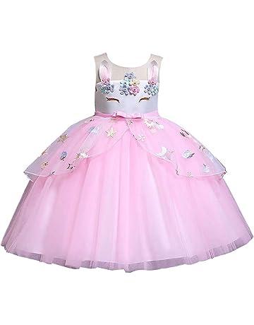 2e2fe11654ced YOKINO ガールズワンピース チュニックベビー服 子供服 女の子 可愛い 花飾り おしゃれ 通園 通学 子供ドレス