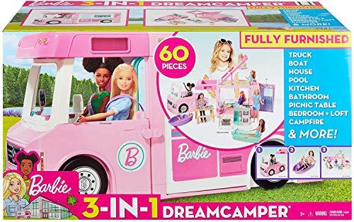 MATTEL ESPAÑA, S.A. Autocaravana de Barbie 3 en 1