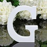 Decorativo Legno Lettere, Appeso Parete 26 Lettere Legno Alfabeto Parete Lettera per Camera Matrimonio Compleanno Partito Casa Decor, Gspirit (G)
