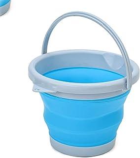 D L D Seau de nettoyage pliable en silicone de 10 L pour le nettoyage du camping, la pêche, la cuisine - Seau de 10 litres...