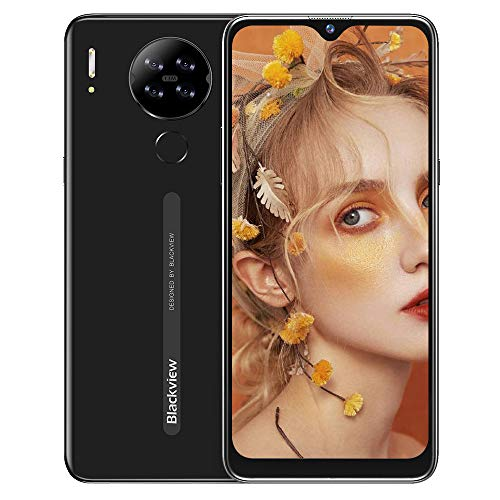 Cellulari Offerte,Blackview A80S Smartphone Offerta del Giorno 4G con 6.21 Pollici HD+ Schermo,Octa-core 4GB/64GB,13MP Quattro Fotocamera,4200mAh Batteria,Android 10 Dual SIM Telefoni Cellulari-Nero