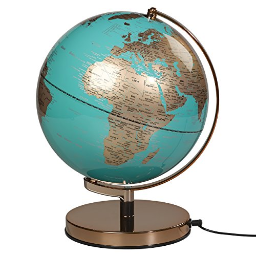 Wild Wood Globe Light | Kupfer/Blau | 25,4 cm