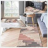 SHACOS 2er Set Teppich Baumwolle Waschbar Gewebt Teppich Vintage Grau Baumwollteppich Flur Teppich für Wohnzimmer Eingang Badezimmer 60x90cm+60x130cm - 3