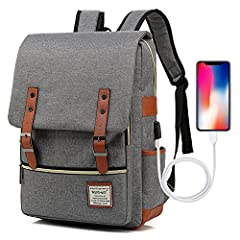 UNIQUE BACKPACK: Crafted with premium lightweight tear resistant oxford fabric and quilted polyester lining, simple, elegant and vintage casual daypacks ROOMY INNOVATION DEPARTMENT: Total 6 compartments, 1 main pocket with laptop sleeve large fits up...