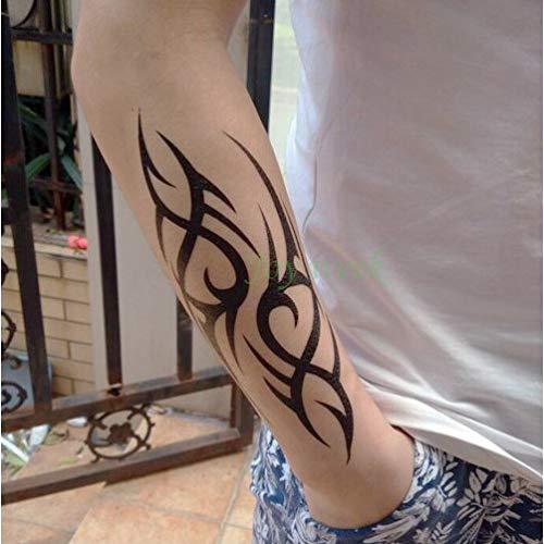 Etiqueta engomada Impermeable del Tatuaje de 3pcs Etiqueta engomada del Tatuaje de la Palabra de Las Letras inglesas tranquilas