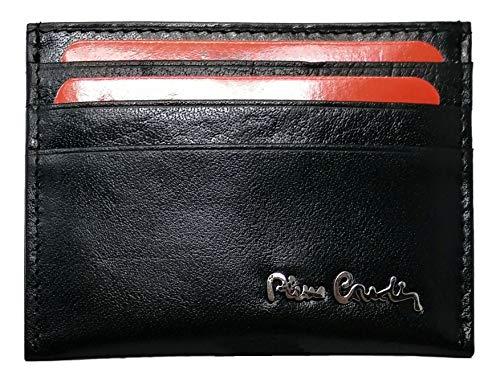 PIERRE CARDIN Cartera para tarjetas de crédito, de piel auténtica, para hombre, fina, fina, pequeña, rfid, regalo, niño, cartera para tarjetas de crédito
