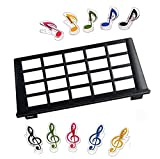 Keyboard Music Score Stand Sheet Musical Instrument Parts Portable Durable Holder Suitable for most 61-key 25-key 49-key keyboards +2pcs Music Sheet Clip Holder