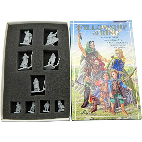 Mithril Miniatures The Fellowship of The Ring Box Set MB689-9X 32mm Scale Collectible Metal Figures
