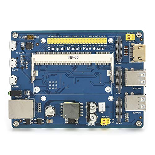 Oumij1 Module Electronics Components Expansion Board CM3/3Lite/3/3 for Raspberry Pi Multi‑Interface with POE (module)