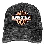 Gorra de Camionero de béisbol, Harley Davidson Motor Cycles Logo T Ajustable Vaquero Juvenil para Hombre Gorras de Golf Sombreros