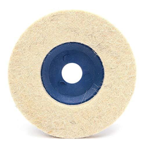 kongnijiwa 3pcs Discos para pulir Almohadillas pulidoras 100 Grados de ángulo Amoladora Ruedas de Fieltro de Pulido y el Disco de 100 mm de 4 Pulgadas